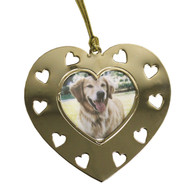 Goldtone Heart Photo with Heart  Cutouts