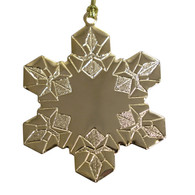 Goldtone Stipple Snowflake