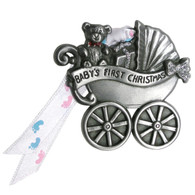 Pewter Baby's First Carriage