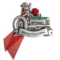 Santa Tractor Ornament