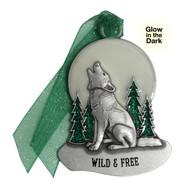 Glow in the Dark Wolf Ornament