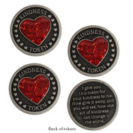 Heart Kindness Tokens, Set of 3