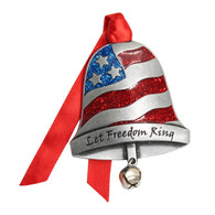 Patriotic Bell Christmas Ornament