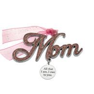 Mom Word Christmas Ornament