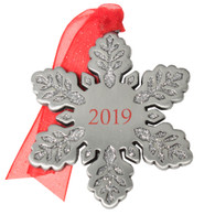 Dated Snowflake Christmas Ornament