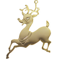 Goldtone Reindeer with imprint