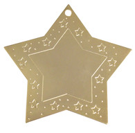 Prefinished Goldtone Star with imprint