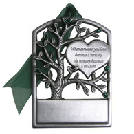 Pewter Memorial Tree with imprint