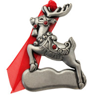 Pewter Reindeer with imprint