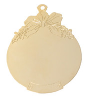 Goldtone Ball with Bow
