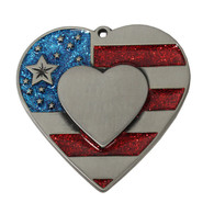 Patriotic Heart with Imprint