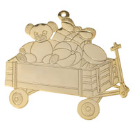 Goldtone Toy Wagon