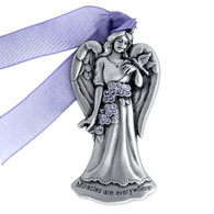 angel-ornament-pewter-miracles are everywhere-christmas ornament