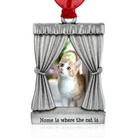 Pewter Cat Picture Frame