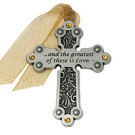 The Greatist of These is Love Cross Ornament