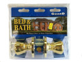 LOCKSET BED & BATH GOLD