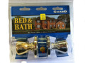 LOCKSET BED & BATH PB & CHROME