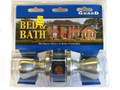 LOCKSET BED & BATH SILVER
