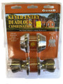 LOCKSET-COMBO KEYED ENTRY DEADLOCK/ ANTIQUE BRASS