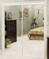 Closet Door, Mirror, White Frame 71Wx80-1/2