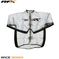 RFX Race Series Wet Jacket (Clear/Black) Size Youth