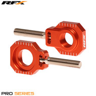 RFX Pro Series 2 Rear Axle Adjuster Blocks (Orange) KTM SX Models 125-525 13>On