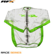 RFX Race Series Wet Jacket (Clear/Green) Size Adult