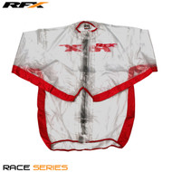 RFX Race Series Wet Jacket (Clear/Red) Size Adult