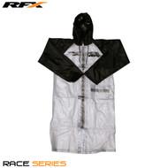 RFX Race Series Rain Coat Long (Clear/Black) Size Adult