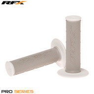 RFX Pro Series 20400 Dual Compound Grips White Ends (Grey/White) Pair