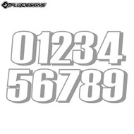 Flu 6 Inch Thick Numbers (3pcs) White