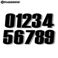 Flu 6 Inch Thick Numbers (3pcs) Black