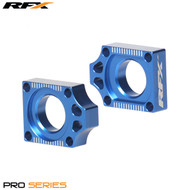 RFX Pro Rear Axle Adjuster Blocks (Blue) Yamaha YZF250/450 14>On