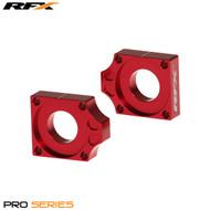 RFX Pro Rear Axle Adjuster Blocks (Red) Honda CRF150 07>On