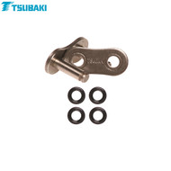 Tsubaki Replacement MX Omega Heavy Duty O-Ring Chain -ORS- (Black/Black) 520 Rivet link