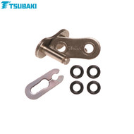 Tsubaki Replacement MX Omega Heavy Duty O-Ring Chain -ORS- (Black/Black) 520 Spring link