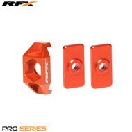 RFX Pro Series Rear Axle Adjuster Blocks (Orange) KTM SX50 09>On