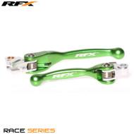 RFX Race Series Forged Flexible Lever Set (Green) Yamaha YZ125/250 08-14 YZF250 07-08 YZF450 08 Kawasaki KXF250/450 13-17