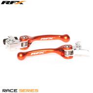 RFX Race Series Forged Flexible Lever Set (Orange) KTM SX/EXC250/300 06-13 SXF/EXCF250 06-13 SXF/EXCF350 11-13 EXCF400 08-13 EXCF450/505 07-13