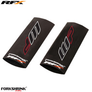RFX Race Series Forkshrink Upper Fork Guard with 2016 WP logo (White/Red) Universal 125cc-525cc