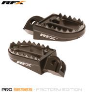 RFX Pro Series Shark Teeth Footrests (Hard Anodised) KTM SX 85-105 03-17