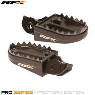 RFX Pro Series Shark Teeth Footrests (Hard Anodised) KTM SX/SXF 16-17