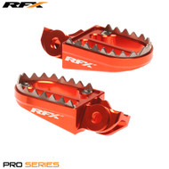 RFX Pro Series Shark Teeth Footrests (Orange) KTM SX125-450 16-17 (Except 250 2T)
