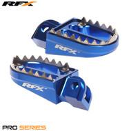 RFX Pro Series Shark Teeth Footrests (Blue) Husqvarna TC85 14-17