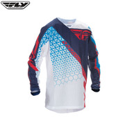 Fly 2016.5 Kinetic Mesh Youth Jersey Trifecta Red/White/Blue Size Youth XLarge
