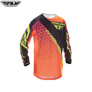 Fly 2016.5 Kinetic Mesh Youth Jersey Trifecta Flo Orange/Black Size Youth XLarge