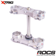 Xtrig ROCS Tech Triple Clamp Set (Silver) Honda CRF250 14-16 CRF450 13-16 (OS 20mm) M12