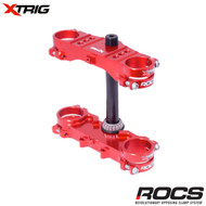 Xtrig ROCS Tech Triple Clamp Set (Red) Honda CRF150 07-17 (OS 28mm) M12