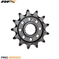RFX Pro Front Sprocket (Black Zinc) Suzuki RMZ250 13>On