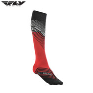 Fly 2018 MX Thin Adult Sock (Red/Black)